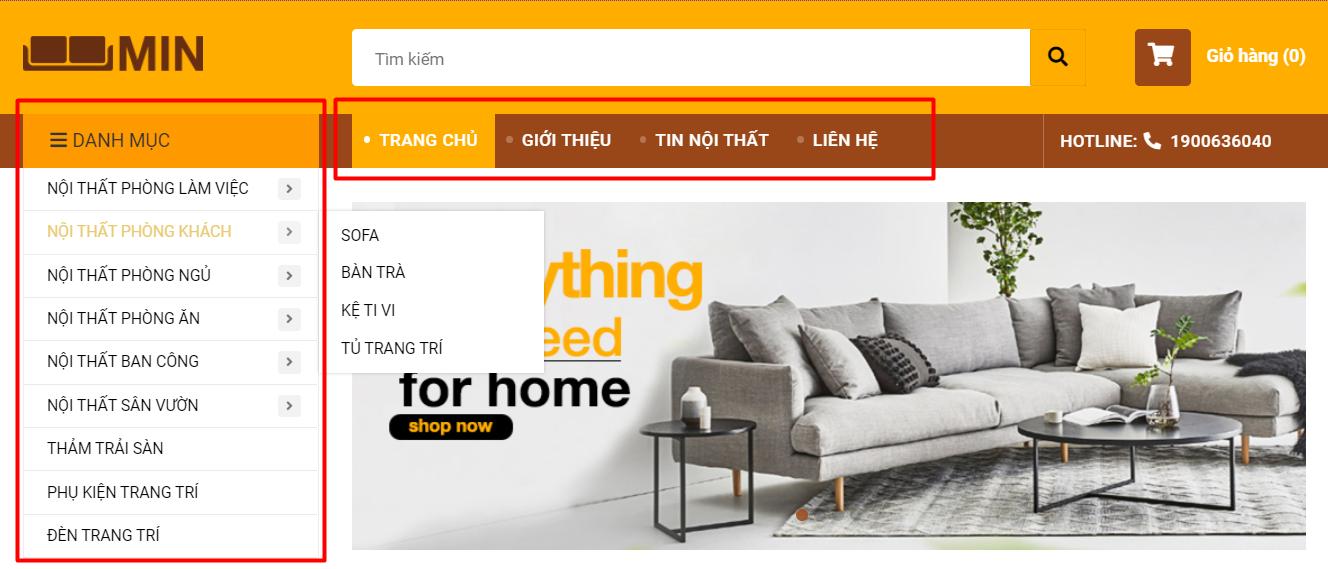 Các thể loại menu của website iTop và cách sử dụng